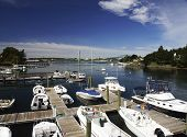 Small Marina With Boats