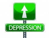 sinal de ilustração de depressão