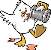 Drinking chicken Vector Illustration
