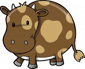 Vector Illustration of Chocolate Cow