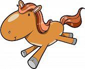 Running Horse Vector Illustration