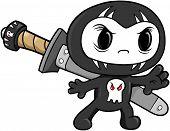 Skull Ninja Vector Illustration
