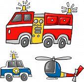 Rescue Team Vector Illustration