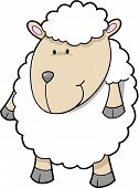 Cute sheep Vector Illustration