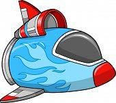 Spaceship Vector Illustration