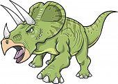 Ilustração em vetor de um dinossauro Triceratops