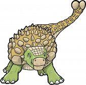 stock photo of ankylosaurus  - Ankylosaurus Dinosaur Vector Illustration - JPG