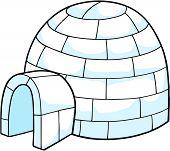 White Snow Igloo Vector Illustration