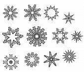 Snowflake Design Collection In Silver