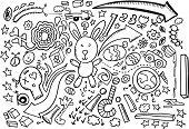 foto of dinosaur-eggs  -  Doodle Sketch Drawing Vector - JPG