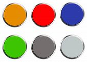 Set Of Colored Web Buttons On White Background. Flat Style. Set Of Round Button For Your Web Site De poster