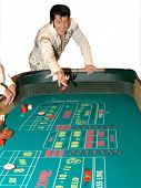 Elvis Presley impersonator Brendan Paul in a Las Vegas Craps Game.