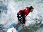 Pro Junior Mens competition in the 2005 US Surf Open in Surf City, Huntington Beach, CA. on 7/24/200