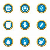 Preserving Icons Set. Flat Set Of 9 Preserving Icons For Web Isolated On White Background poster