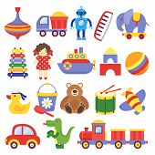 Kids Toys. Game Toy Peg-top Teddy Bear Drum Yellow Duckling Dinosaur Rocket Childrens Cubes Robot. B poster