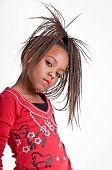 afrikakarte american Mädchen Kleid bis zu spielen, wie sie ein Hip-Hop-Sänger ist