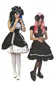 Beautiful and dark Gothic and Lolita doll characters