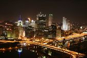 Pittsburgh'S Skyline At Night