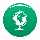 Geography Icon. Simple Illustration Of Geography Vector Icon For Any Design Green poster
