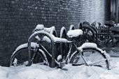 Snow-Covered Bicycle