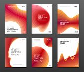 Brochure Cover Design Templates Set For Business. Good For Annual Report, Magazine Cover, Poster, Co poster