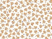 Orange And Red Autumn Leaves Vector Seamless Pattern. Deciduous Tree Fall Leaf Pattern, Falling Cart poster