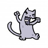yowling cat cartoon