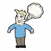 dos desenhos animados do fumante mau hálito