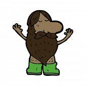 naturist in wellingtons cartoon