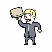 angry banker cartoon