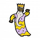 um dos três reis, acenando dos desenhos animados