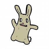 scary rabbit cartoon