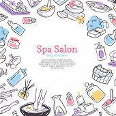 Spa Treatment Salon Poster Background Design For Cosmetics Store Spa And Beauty Salon, Organic Healt poster