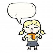 cartoon little girl singing