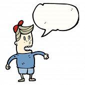cartoon nerd kid with speech bubble
