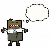 cartoon upset businessman