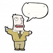 cartoon bald man complaining