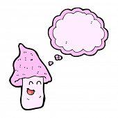 cartoon happy mushroom