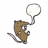 cartoon rat having heart attack