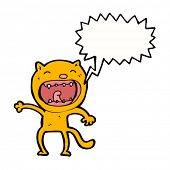 cartoon shouting cat