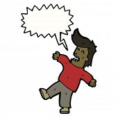 cartoon man fainting
