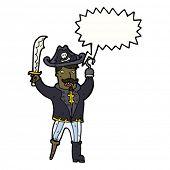 fierce cartoon pirate captain