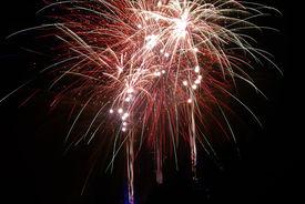 image of guy fawks  - Time exposure of a firework display - JPG