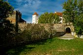 Entrance gate with a drawbridge into the castle B�tov.