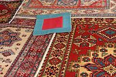 Blue Carpet With Red Frame And Other Valuable Oriental Carpets