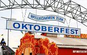 Munich - Sept 1, 2008: The Oktoberfest Is Setting Up