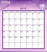 Calendar 2013 May