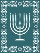 stock photo of obeah  - Jewish menorah  - JPG