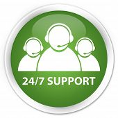 24/7 Support Team Green Button