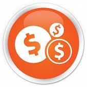 Finances (dollar) Icon Orange Button